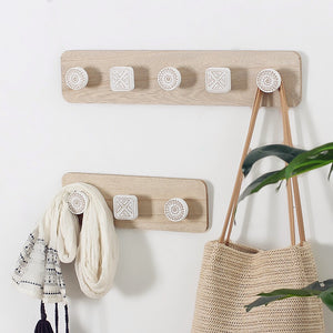 Nordic Wooden Wall Hooks - Burnt Spaces