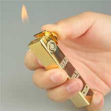 Load image into Gallery viewer, Gold Bar Torch Lighter - Burnt Spaces