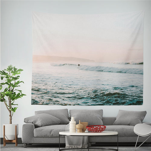 Soft Ocean Waves Tapestry