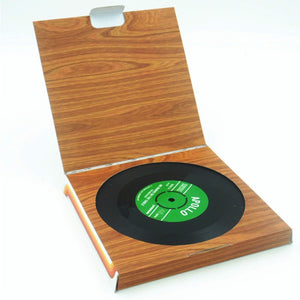 Vintage Record Coasters 6 Pc - Burnt Spaces