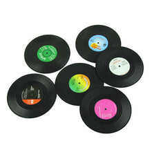 Load image into Gallery viewer, Vintage Record Coasters 6 Pc - Burnt Spaces