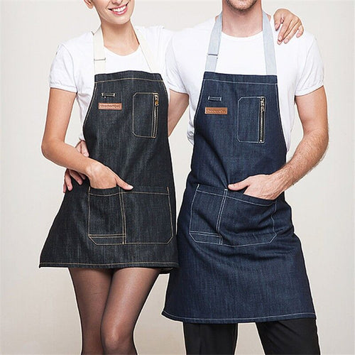 Denim Cooking Aprons - Burnt Spaces