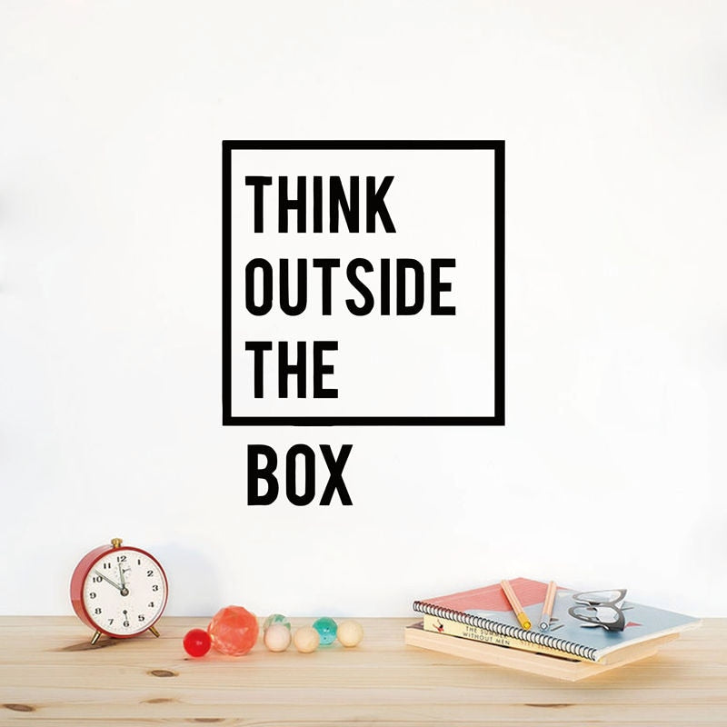 Think Outside The Box Decal - Burnt Spaces