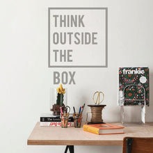 Load image into Gallery viewer, Think Outside The Box Decal - Burnt Spaces