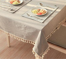 Load image into Gallery viewer, Eli's Tassel Table Linen Mocha - Burnt Spaces