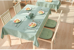 Eli's Tassel Table Linens - Burnt Spaces