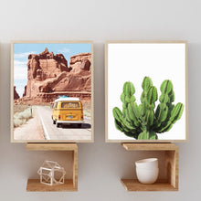 Load image into Gallery viewer, Retro Road Trip Canvas Print - Burnt Spaces