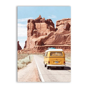 Retro Road Trip Canvas Print - Burnt Spaces