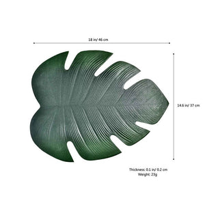 Pvc Leaf Dining Mat - Burnt Spaces