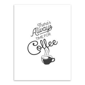 Always Time For Coffee Canvas Print - Burnt Spaces