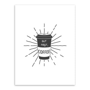 But First Coffee Canvas Print - Burnt Spaces