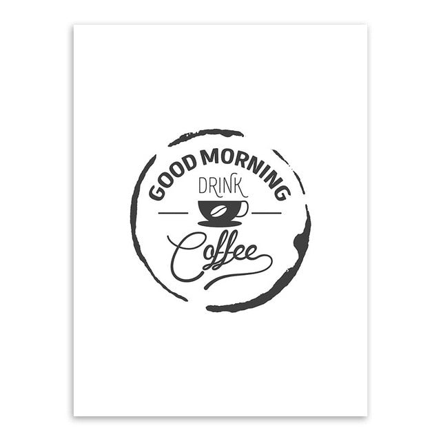 Good Morning Coffee Canvas Print - Burnt Spaces