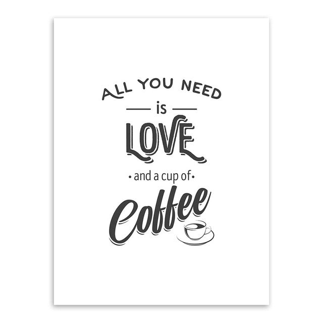 Love and Coffee Canvas Print