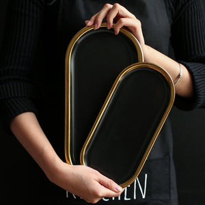 Decorative Gold Plated Trays - Burnt Spaces