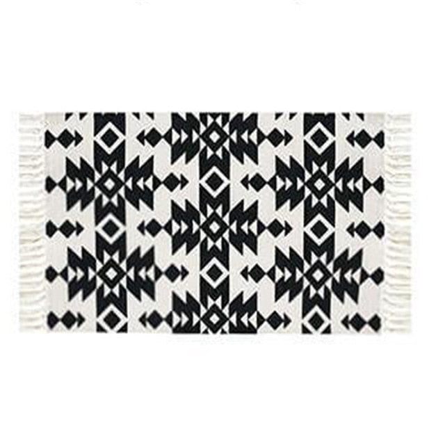 Nora Printed Aztec Rug - Burnt Spaces