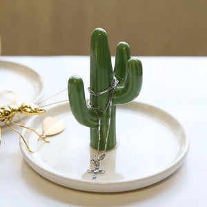 Cactus Shaped Jewelry Dish - Burnt Spaces