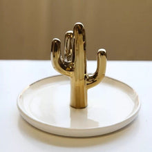 Load image into Gallery viewer, Cactus Shaped Jewelry Dish - Burnt Spaces