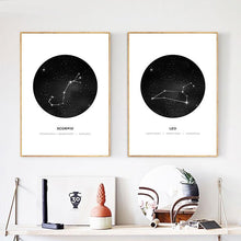 Load image into Gallery viewer, Zodiac Canvas Prints - Burnt Spaces