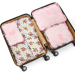 Luggage Organizer 6PCs/ Travel Bag Set - Burnt Spaces