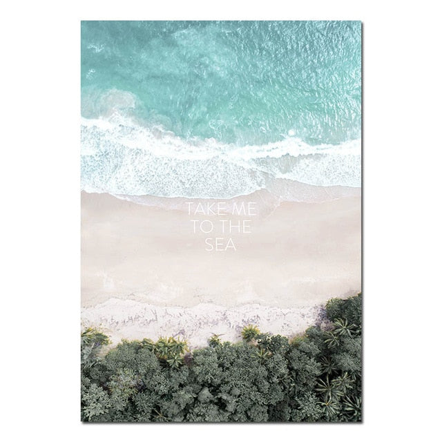 Take Me To The Sea Canvas Print - Burnt Spaces