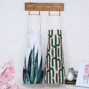 Cactus Cotton Linen Kitchen Apron - Burnt Spaces