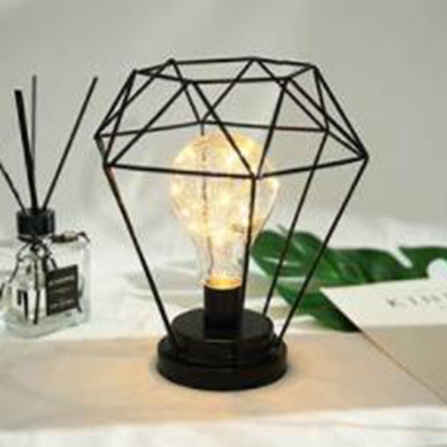 Retro Iron Table Lamp - Burnt Spaces