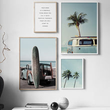Load image into Gallery viewer, Surf Board Canvas Print - Burnt Spaces