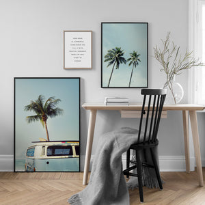 Coconut Tree Canvas Print - Burnt Spaces