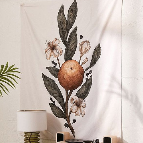 Orange Blossom Bohemian Tapestry