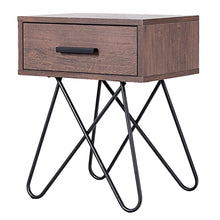 Load image into Gallery viewer, Donovan Steel Leg Side Table - Burnt Spaces
