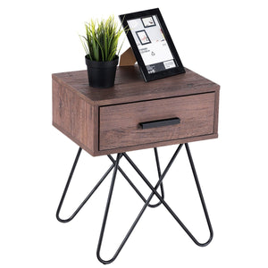 Donovan Steel Leg Side Table - Burnt Spaces