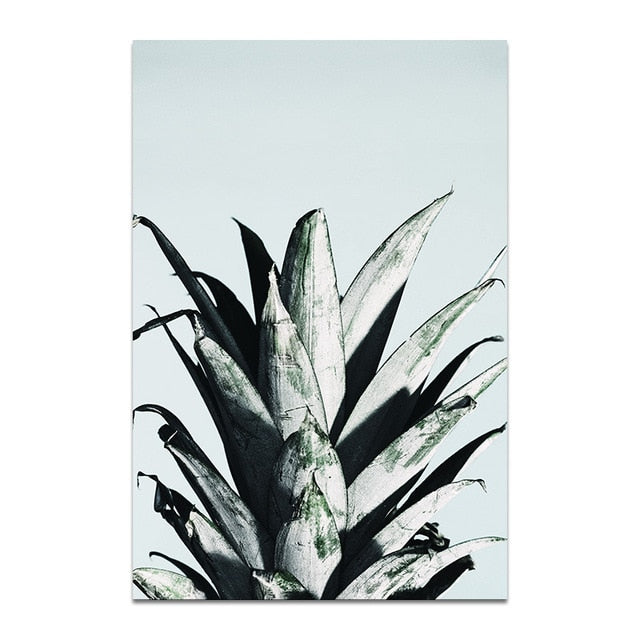 Pineapple Head Canvas Print