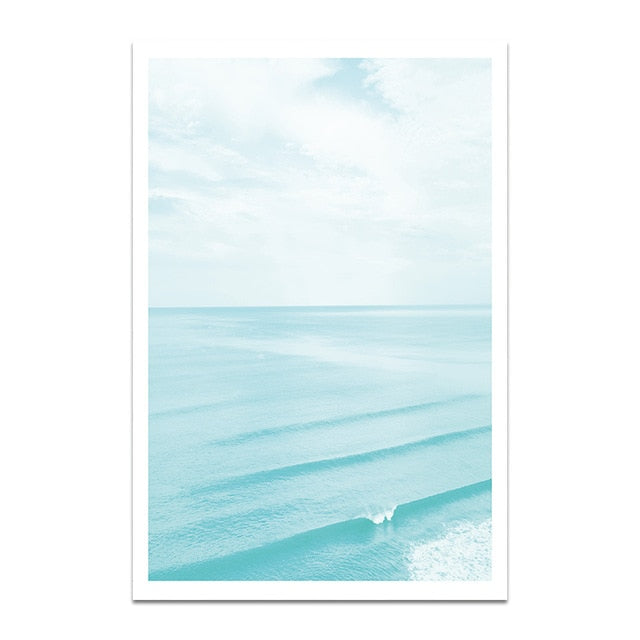 Blue Waters Canvas Print - Burnt Spaces