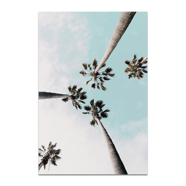 Blue Sky's and Palm Trees Canvas Print - Burnt Spaces