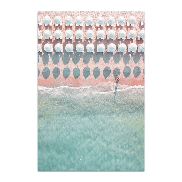 Retro Beach Canvas Print - Burnt Spaces