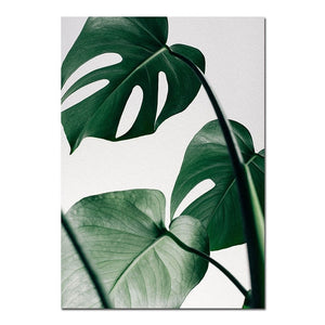 Turtle Leaf Branch Canvas Print - Burnt Spaces