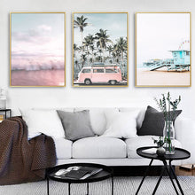 Load image into Gallery viewer, LaLa Pink Wave Canvas Print - Burnt Spaces