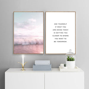 LaLa Pink Wave Canvas Print - Burnt Spaces