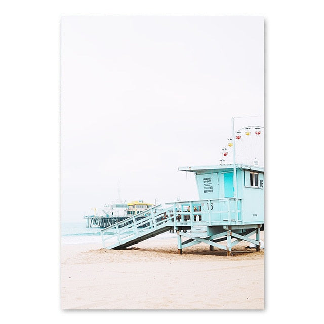 Life Guard Tower Canvas Print - Burnt Spaces