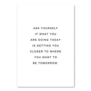 Ask Yourself Canvas Print