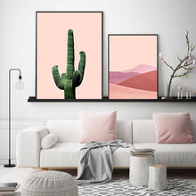 Load image into Gallery viewer, Cactus Pink Desert Prints - Burnt Spaces