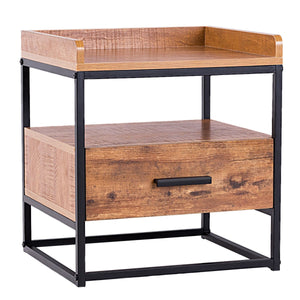 Luke's 2-Tiers End Table - Burnt Spaces