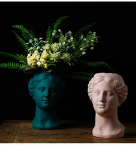 Load image into Gallery viewer, Venus Statue Head Vase Pink - Burnt Spaces