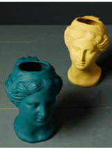 Load image into Gallery viewer, Venus Statue Head Vase Yellow - Burnt Spaces