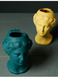 Venus Statue Head Vase Yellow - Burnt Spaces