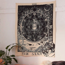 "Load image into Gallery viewer, ""The Star"" Tarot Tapestry - Burnt Spaces"