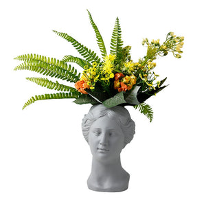 Venus Statue Head Vase Dark Gray - Burnt Spaces