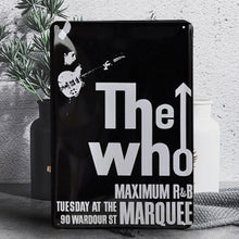 "Load image into Gallery viewer, Vintage ""The Who"" Tin Poster Sign - Burnt Spaces"