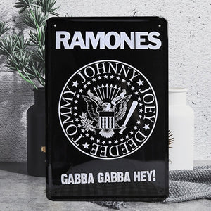 Vintage Ramones Tin Poster Sign - Burnt Spaces