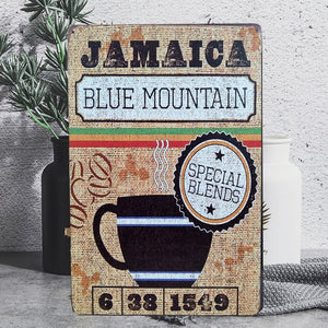 Vintage Jamaica Blend Tin Poster Sign - Burnt Spaces
